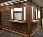 Superb Original 1950s Complete United States Post Office Wooden Façade Mailboxes