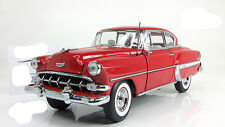 Chevrolet Bel Air Hard Top Coupe 1954 red Sunstar 1:18
