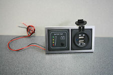 CBE 12v Battery Condition Tester & Double USB Socket Motorhome/Caravan,Campervan