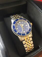 Vintage Tag Heuer Rare Blue & Gold Professional Submariner Divers Men's Watch