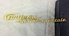Vintage ALFA ROMEO 'Giulietta Sprint Speciale' Script Badge Emblem (Ref.127) vgc