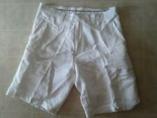 Cubavera Men's Linen Blend White Chino Shorts Size 34