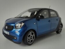 Smart Fortwo 2015 Black & Blue 1 18 Model 183435 NOREV