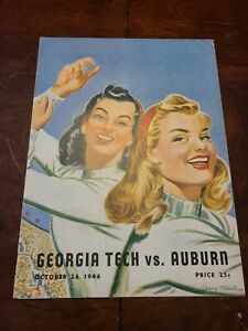 1946 Georgia Tech Vs Auburn Football Program
