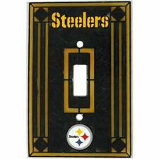 Pittsburgh Steelers Art Glass Light Switch Plate Cover