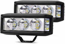2X LED Work Lights 6 Inch 1000W Driving Strip Flood Beam light Bar SUV Offroad