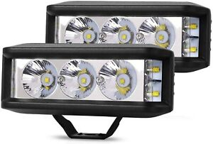 2PCS Mini 5 in 1000W LED Light Bar Flood Spot Offroad Lights Boat Super Bright