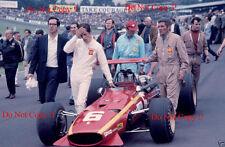 Jacky Ickx Ferrari 312 British Grand Prix 1968 Photograph