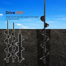 Planter Garden Auger Spiral Drill Bit Ground Fence Post Hole Digger Drilling Bit