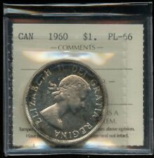 1960 Canada Silver Dollar Proof Like - ICCS PL-66 Cameo - Cert#XX369