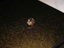 9 dark champagne diamonds ca.2 mm round facet champagnerfarbene runde diamanten