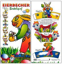 Ostereier Becher Eierbecher Ostern basteln Papier Bastelset