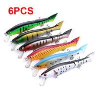 6PCS 12cm/13g Multi Jointed Fishing Lures Swimbait Hard Bait Crankbait Tackle