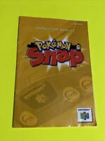 🔥 POKÉMON SNAP - Instruction Booklet Manual Original Book Nintendo N64 🔥