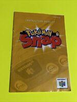 🔥 POKÉMON SNAP - Instruction Booklet Manual Original Book Nintendo N64 🔥