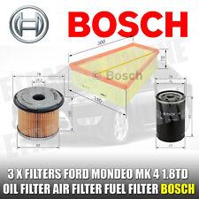 Ford Mondeo MK4 1.8 TDCi 07-15 Oil Filter Air &  Fuel Filter Service Kit BOSCH