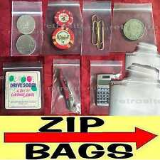 Clear Plastic Zip Lock Reclosable Poly Seal Top Bags Coinsjewelry 2 Mil Sml Lrg