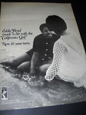 Eddie Floyd says Now It'S Your Turn original 1970 Stax Records Promo Poster Ad