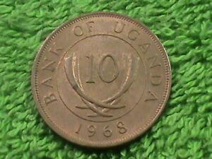UGANDA 10 Cents 1968 ALMOST UNC