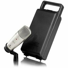 NEW Recording Condenser Microphone.Studio Quality Sound.Silver.Cardioid Pickup.