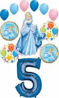 Cinderella Party Supplies Princess 5th Birthday Balloon Bouquet Decorations