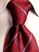 Men's Henry Jacobson Red Silk Striped Tie A28141