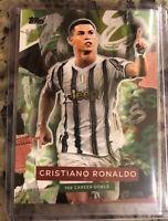 Cristiano Ronaldo Topps Greatest Goalscorer 768 Red Green 40/102 + 10 Base Cards