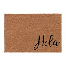 Hola Door Mat | Funny Outdoor/Indoor Door Mat  | cute doormat  | Spanish Sign