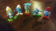 Burger King Toy Lot / 5 Smurf Characters