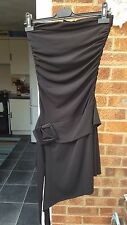 TFNC Stunning Black Dress with Bandeau Neck, Size 8-10, VGC