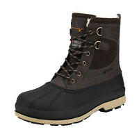 NORTIV 8 Men's Snow Boots Insulated Waterproof Rugged Duty Outdoor Winter Boots