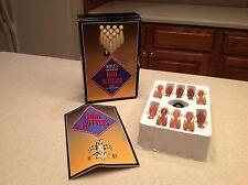 Hoyle Mini Skittles Game Wooden Pins & Ball Mini Bowling Mini Kegein GAme Boxed