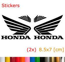 2x Honda Logo Sticker Motorcycle Vinyl Decal Honda Motorrad Aufkleber 8.5x7 [cm]