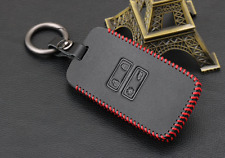 Car Leather Wallet Key Cover Fob Surface Key Chain Protector For Renault Kadjar