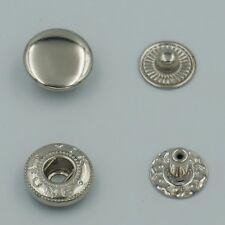 Boutons pression 50 sets métal argent rond 12mm boutons pression anorak