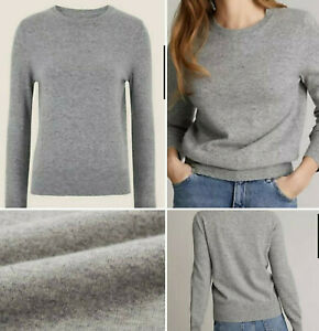 New exM&S Collection Pure 100% Cashmere Grey Jumper Size 16