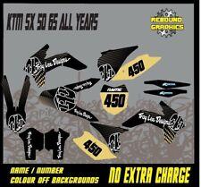 KTM SX 50 65 kit de gráficos-Calcomanías-MX-Pegatinas - KTM SX 50 65 oro