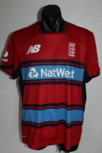England National Cricket Team Club Jersey Shirt Size Med New Balance NB Dry