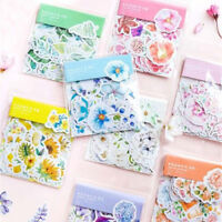 45pcs Flowers Stickers Kawaii Stationery DIY Scrapbooking Journal Cute Stick JR