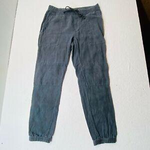 James Perse Slim Fit Linen Utility Pants Sz 2 Black