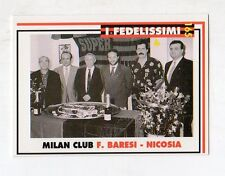 figurina card - CALCIATORI MILAN  MASTER CARDS  - n. 165 F. BARESI - NICOSIA
