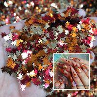 Xmas Autumn Design Maple Leaf Nail glitter sequins fall Nail Art Flake Spangles