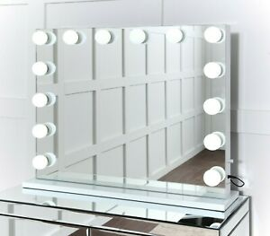 Niches Hollywood Vanity Light Up Cosmetic Table top Illuminated Dimmable Mirror.