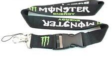 NEW MONSTER ENERGY DRINK LANYARD DETACHABLE KEYCHAIN STRAP BADGE ID HOLDER