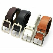 Casual Men Belt Square Pin Buckle Waist Belt Vintage Male Waistband Strap