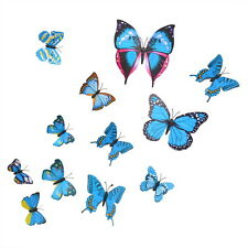 Purple Blue Butterflies Wall Art Stickers Wall Decal Home Decoration Room Decor