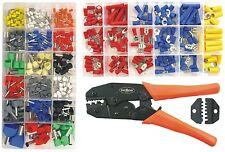 Crimpzange mit Ratschenfunktion + 150 Kabelverbinder+300 Aderendhülsen 510