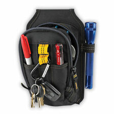 9 Pocket Zipper Tool Belt Pouch w/ Carabiner Clip - Custom Leathercraft CLC 1504