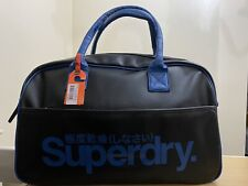 Superdry Coaches Tote Bag - Black/Royal  BNWT - Ref CT02