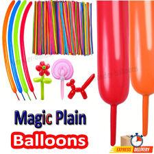 100 Magic Long Balloons Assorted Colors Twist Making Animals Latex Balloons, UK